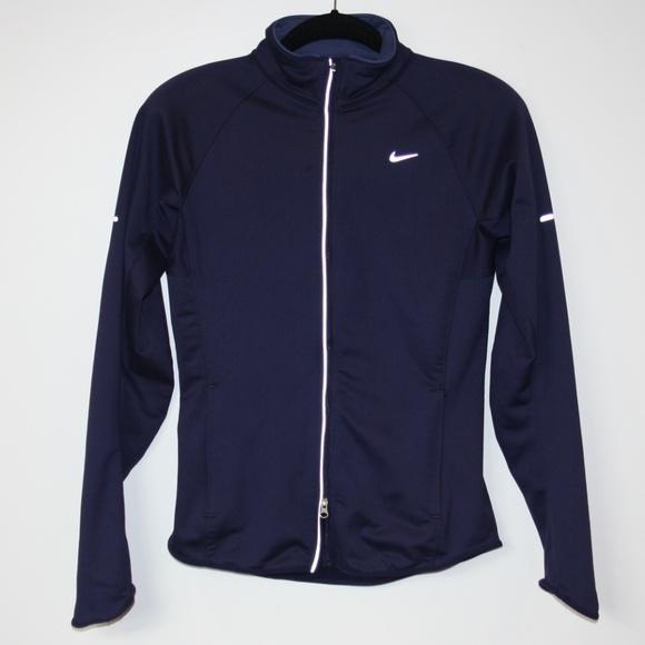 6487ec75d Nike women's thermal full zip running jacket sz S